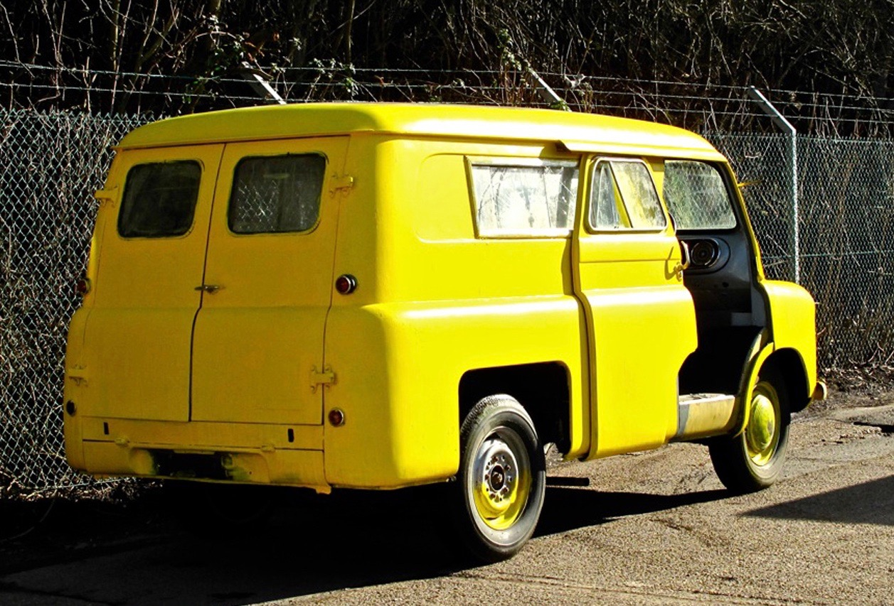 1957 Bedford CA Van rear angle HR