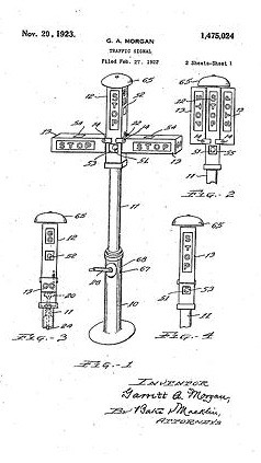 Patent papers for Morgan's traffic signal
