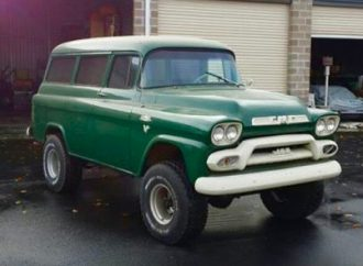 1959 GMC Napco panel wagon