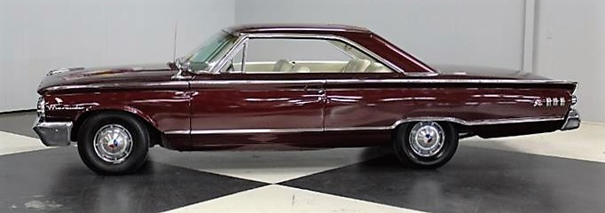 The Mercury has a sporty hardtop profile