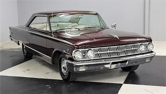 The 1963 Mercury Marauder is powered by a 300-horsepower big-block V8
