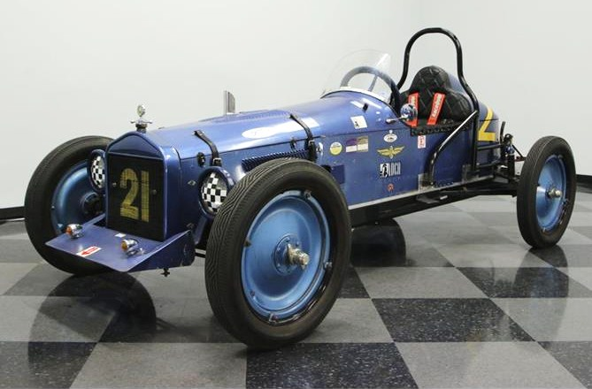 The Ford Speedster compes with an SCCA logbook and racing history