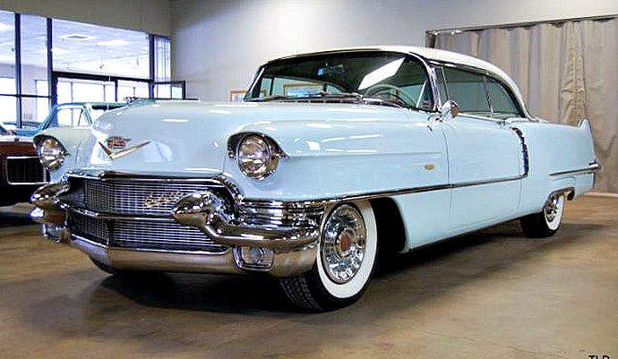The 1956 Cadillac looks pretty clean considering that the paint and trim are 60 year sold