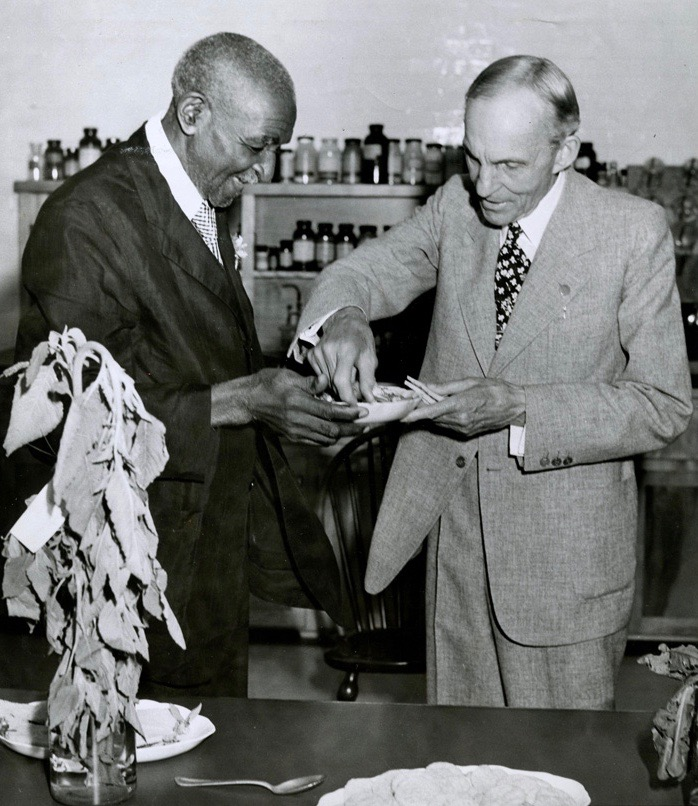George Washington Carver and Henry Ford | AACA photos