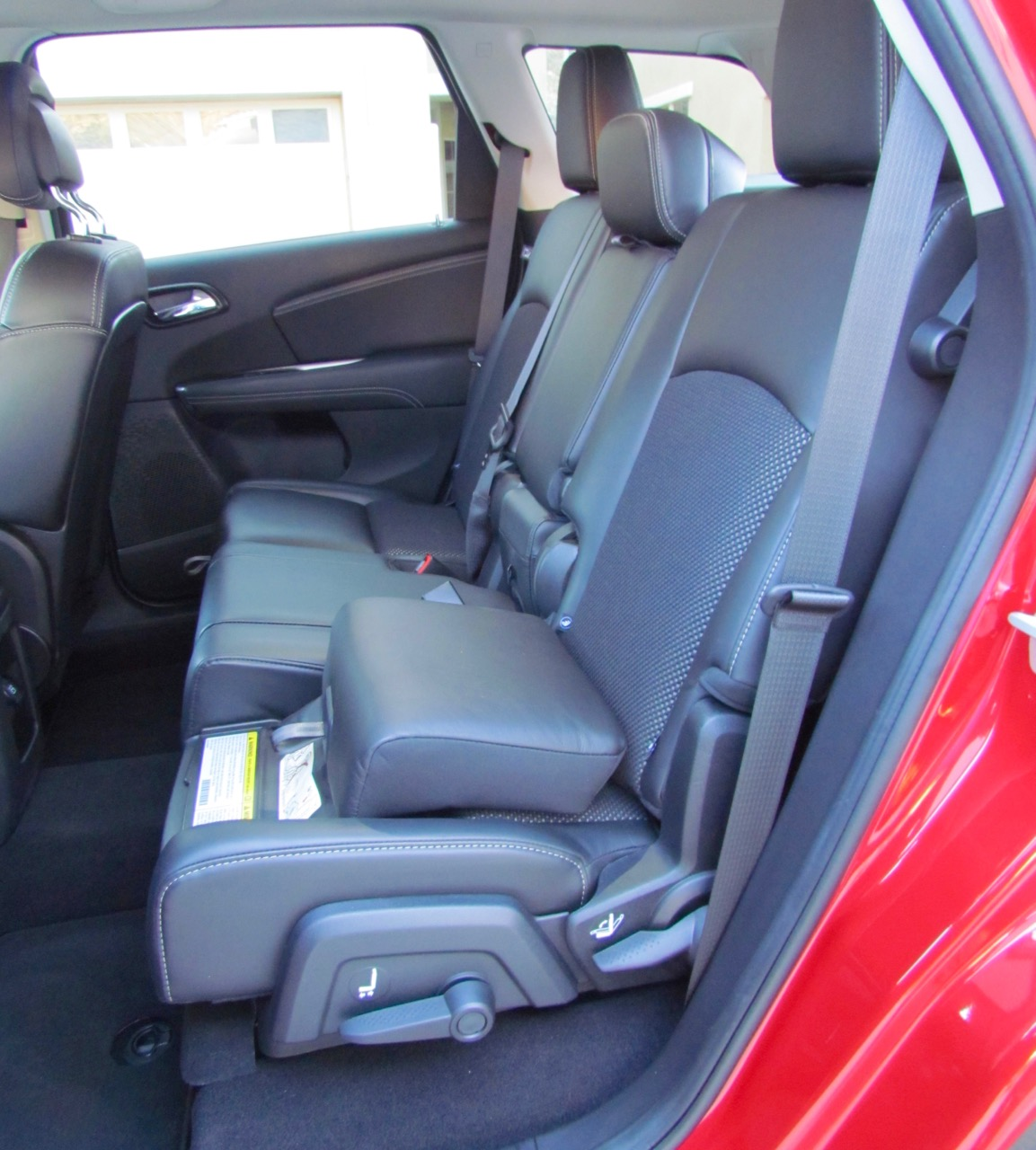 Built-in booster seats in the second row
