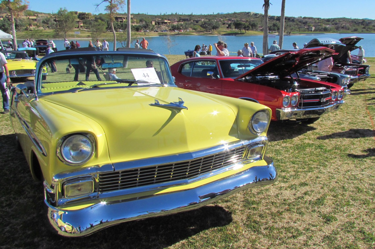 There were rows of American classics leading down to the shoreline | Larry Edsall photos