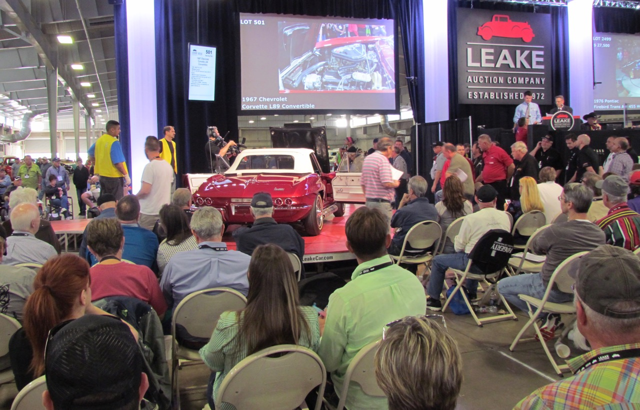 1967 Chevrolet Corvette L89 convertible on the block. It sold for $183,700