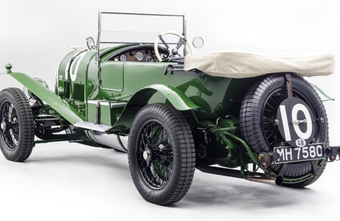 Bentley's first Le Mans racer on display at London show