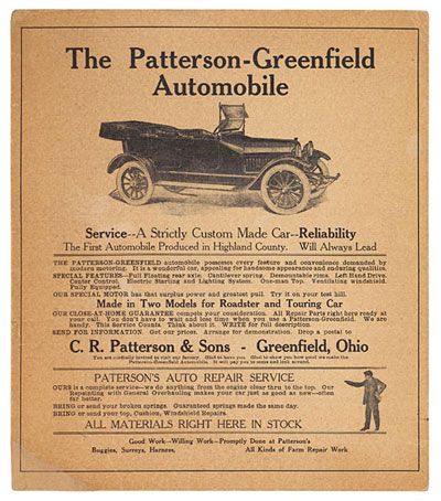 A Patterson-Greenfield advertisement