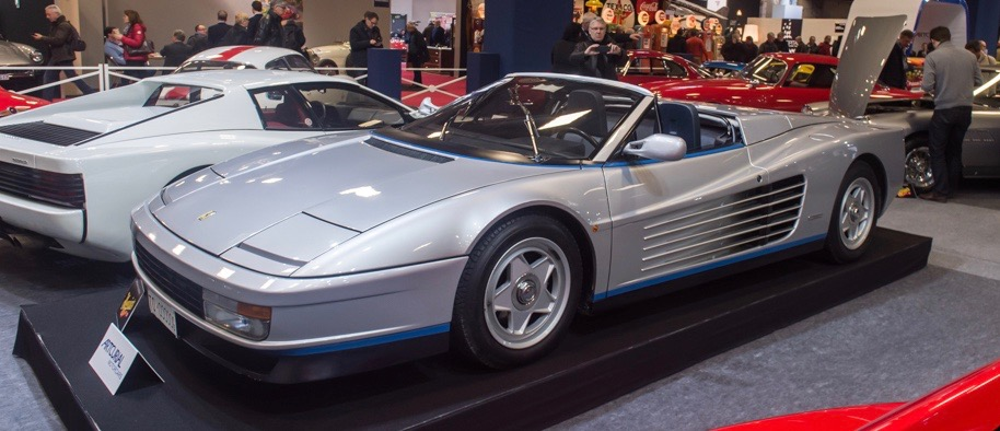 Ferrari Testarossa formerly owned by Fiat chairman Gianni Agnelli on the Artcurial stand at Retromobile | Dirk de Jager photo
