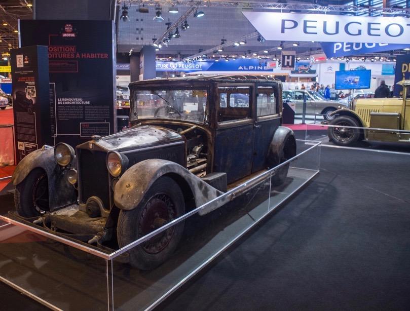 A 1931 Harris Leon Laisne Type R restoration project near the Peugeot stand at Retromobile 2016 | Dirk de Jager photo