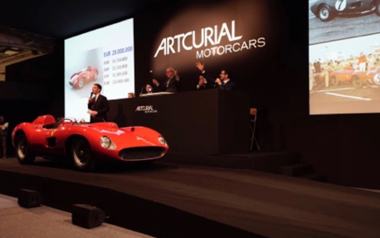 1957 Ferrari racer set auction records for highest price paid in euros or British pounds | Artcurial Motorcars photo