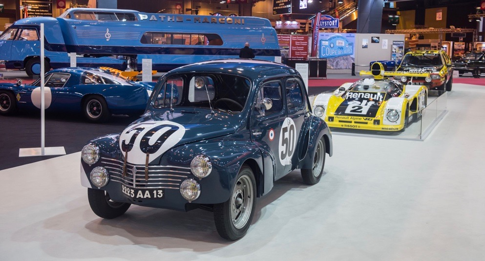 Some of the historic racing cars on the Renault stand at Retromobile | Dirk de Jager photos