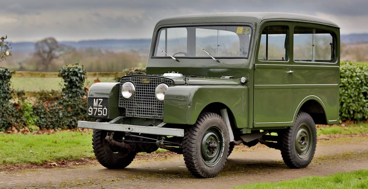 1950 Land Rover Series I station wagon | Silverstone photo by Justin Harris