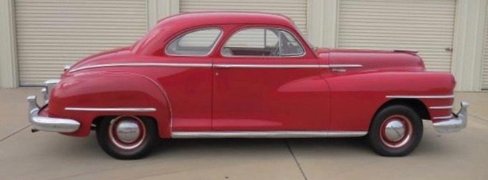 1948 Chrysler Royal club coupe was rescued from desert demise