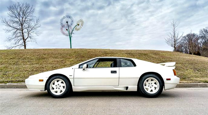 The Lotus Esprit is a modestly priced exotic car despite its dynamic styling and spirited performance