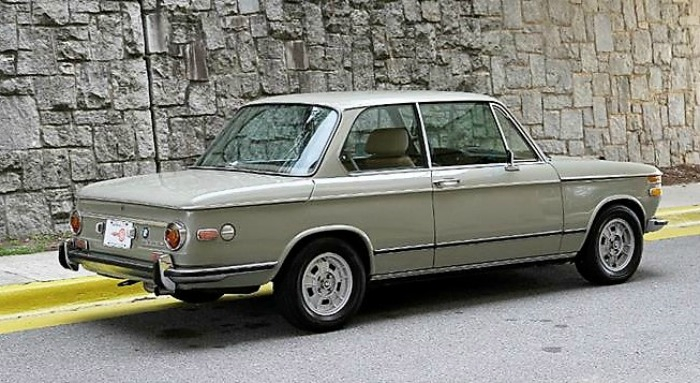The 1971 BMW 2002 is an earlier and more-desirable round-taillight model