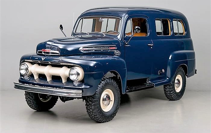 The 1951 Ford F1 Ranger was converted to utility body and four-wheel drive by outside contractors