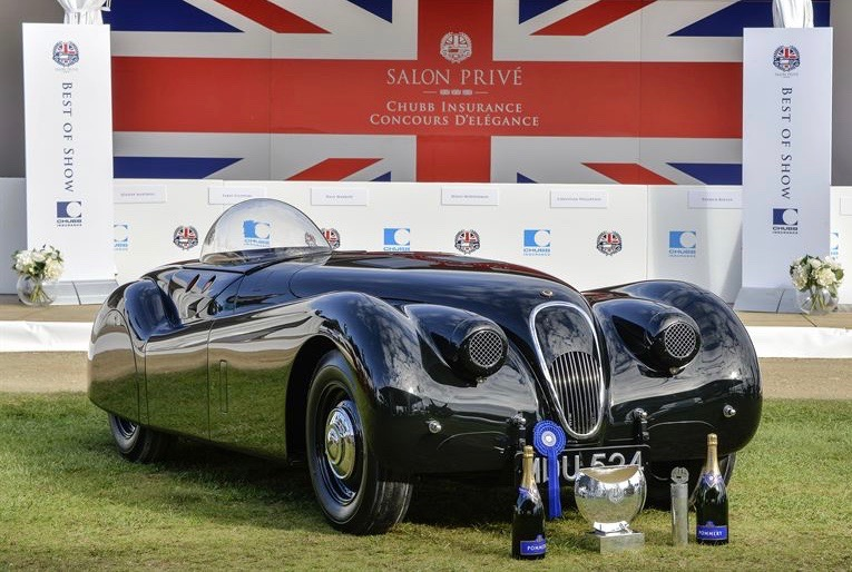 Jaguar XK120 'Jabbeke' set speed record in 1953 and won Salon Prive in 2015 | Salon Prive photos