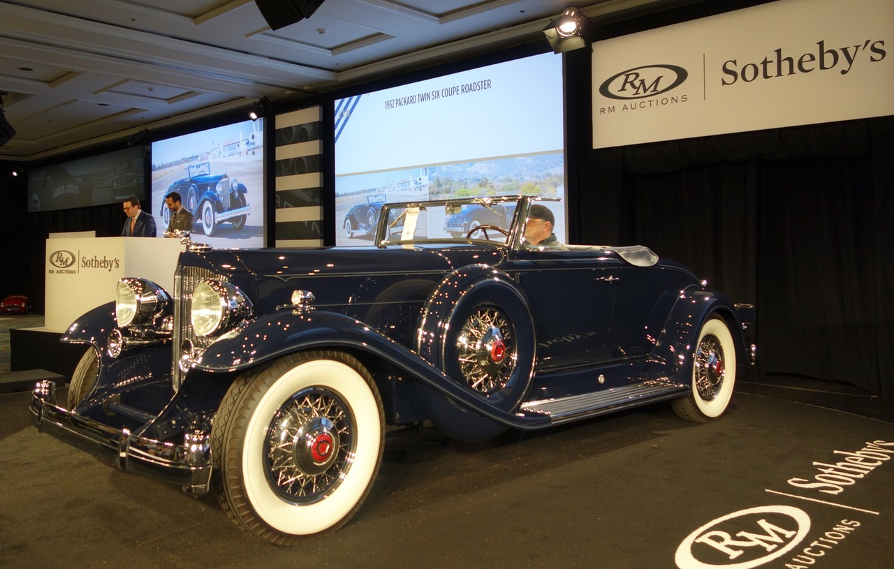 1932 Packard Twin-Six sells for $1.21 million at RM Sotheby's | Andy Reid photos