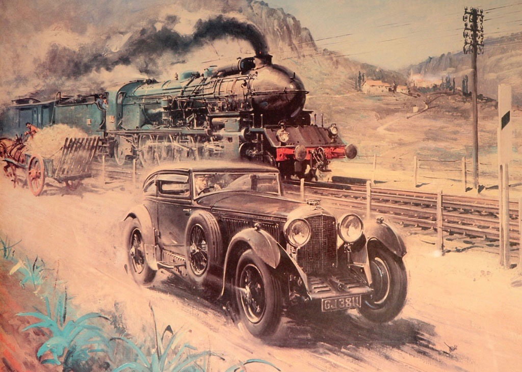 Famed painting by Terence Cuneo