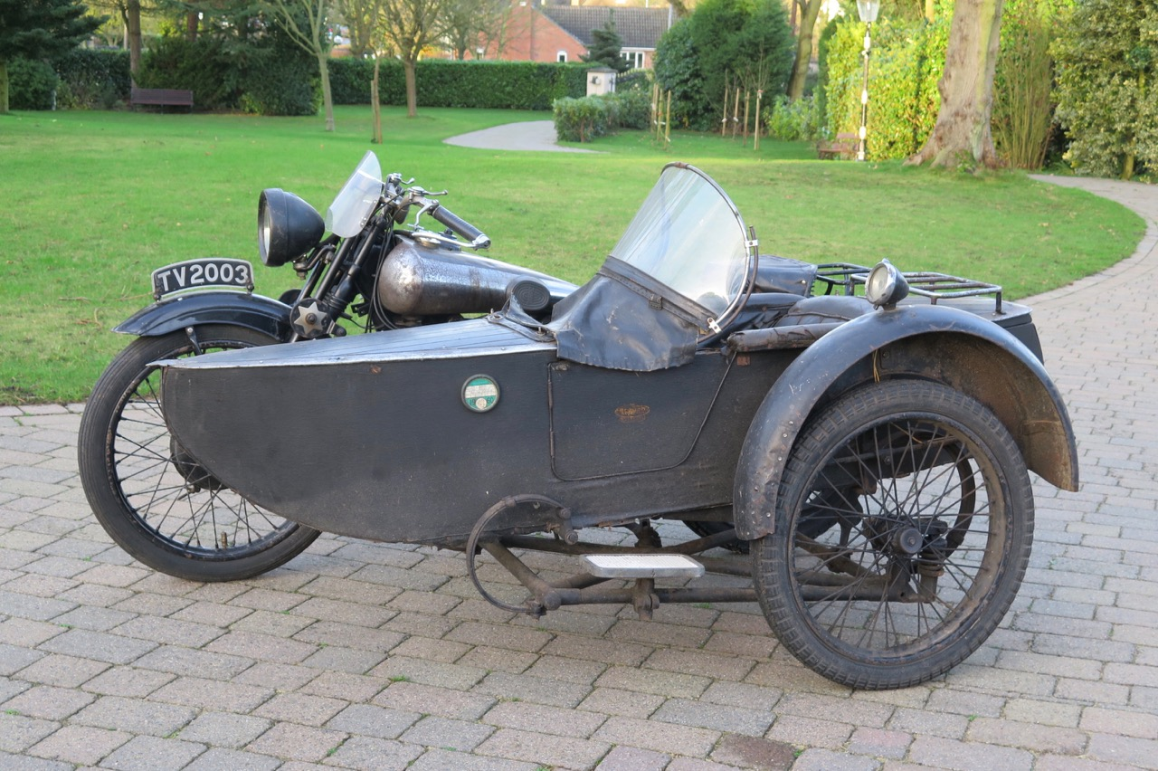 1930 Brough Superior SS100 with factory-attached sidecar   H&H Classics photos