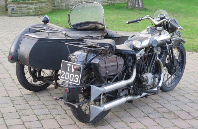 Rare 1930 Brough Superior SS100 (with sidecar) heads to auction