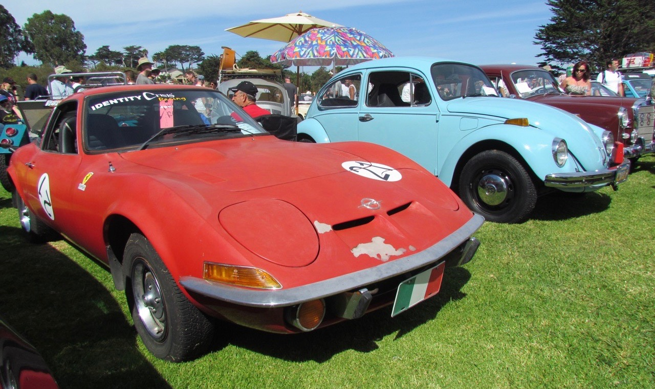 Opel, VW among cars at Concours d'LeMons event last year at Monterey
