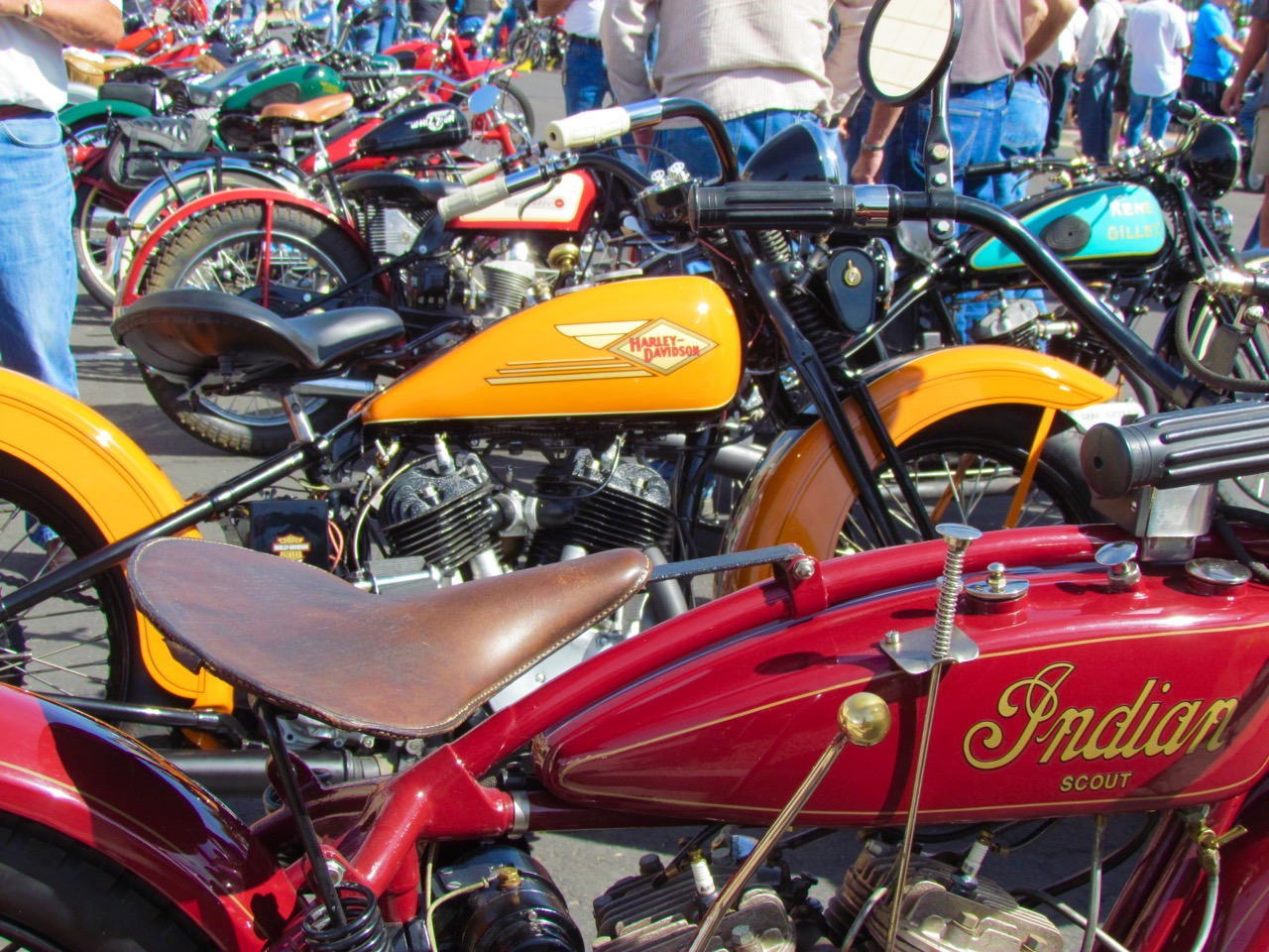 Just some of the dozens of vintage and antique motorcycles at the Arizona show | Larry Edsall photo