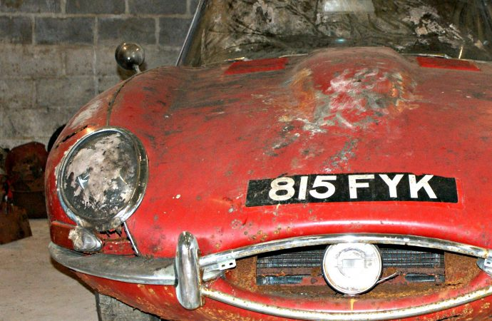 Jaguar found under a hedge goes to Coys auction in London