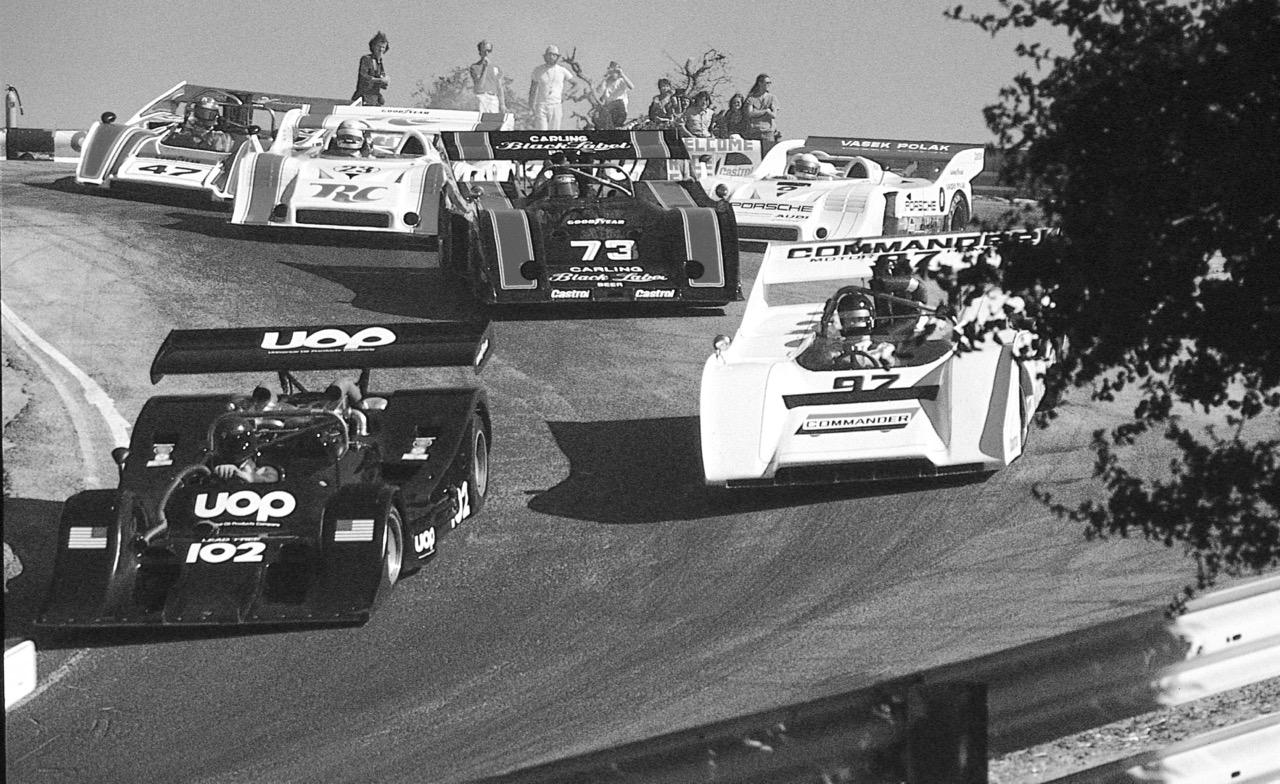 Can-Am cars race through the famed Corkscrew turn at Mazda Raceway Laguna Seca back in the day | Mazda Raceway photo