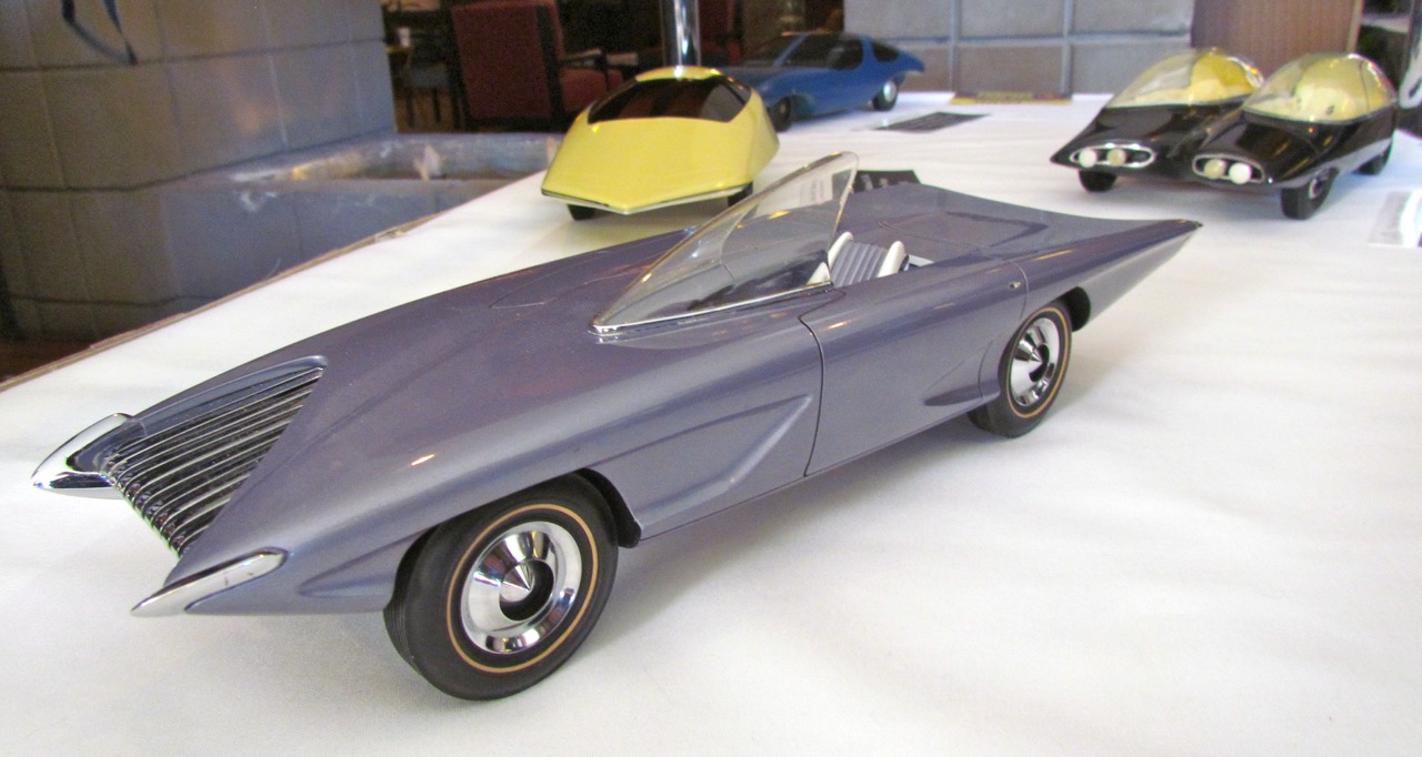Some of the models created when future car designers were aspiring students | Larry Edsall photos