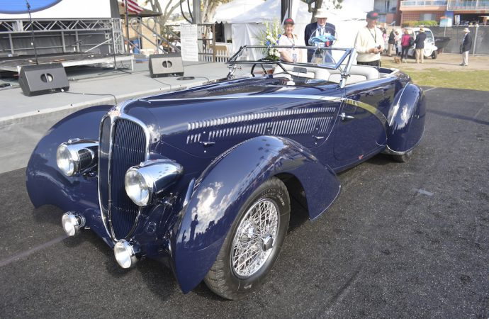 1936 Delahaye takes Best of Show, French Curves class at La Jolla