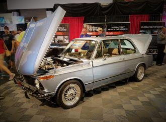 Clarion's 1974 BMW 2002 earns $125,000 for cause close to the heart of Barrett-Jackson