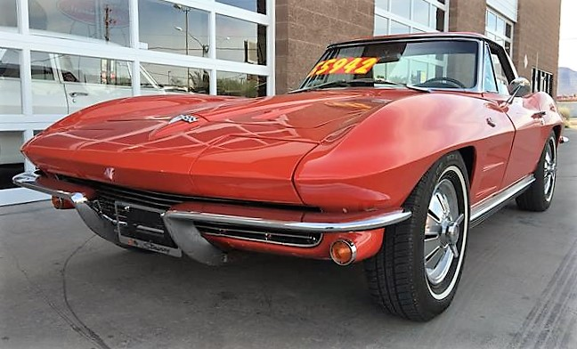 This little red Corvette is offered for sale in Nevada