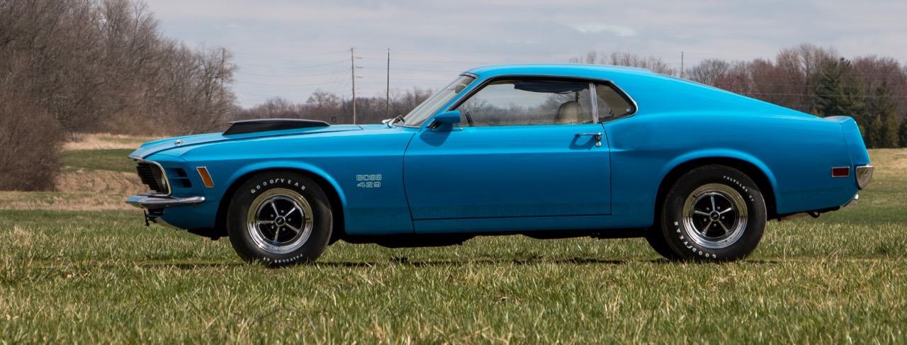 16,000-mile 'time-capsule' 1970 Ford Mustang Moss 429 among featured cars | Auctions America photos