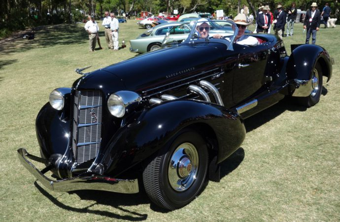 Regularly driven '36 Auburn best of show at Kiawah Island