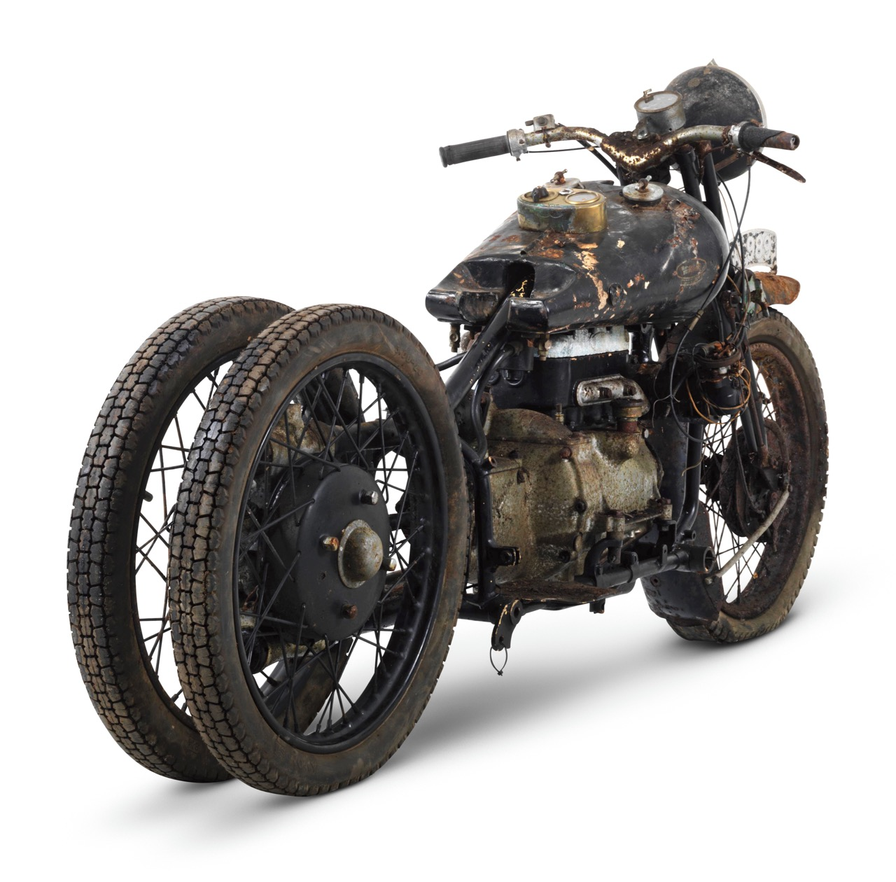 Only 10 of these motorcycles were built. Seven survive