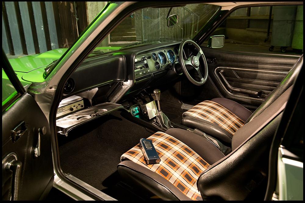 The tartan interior