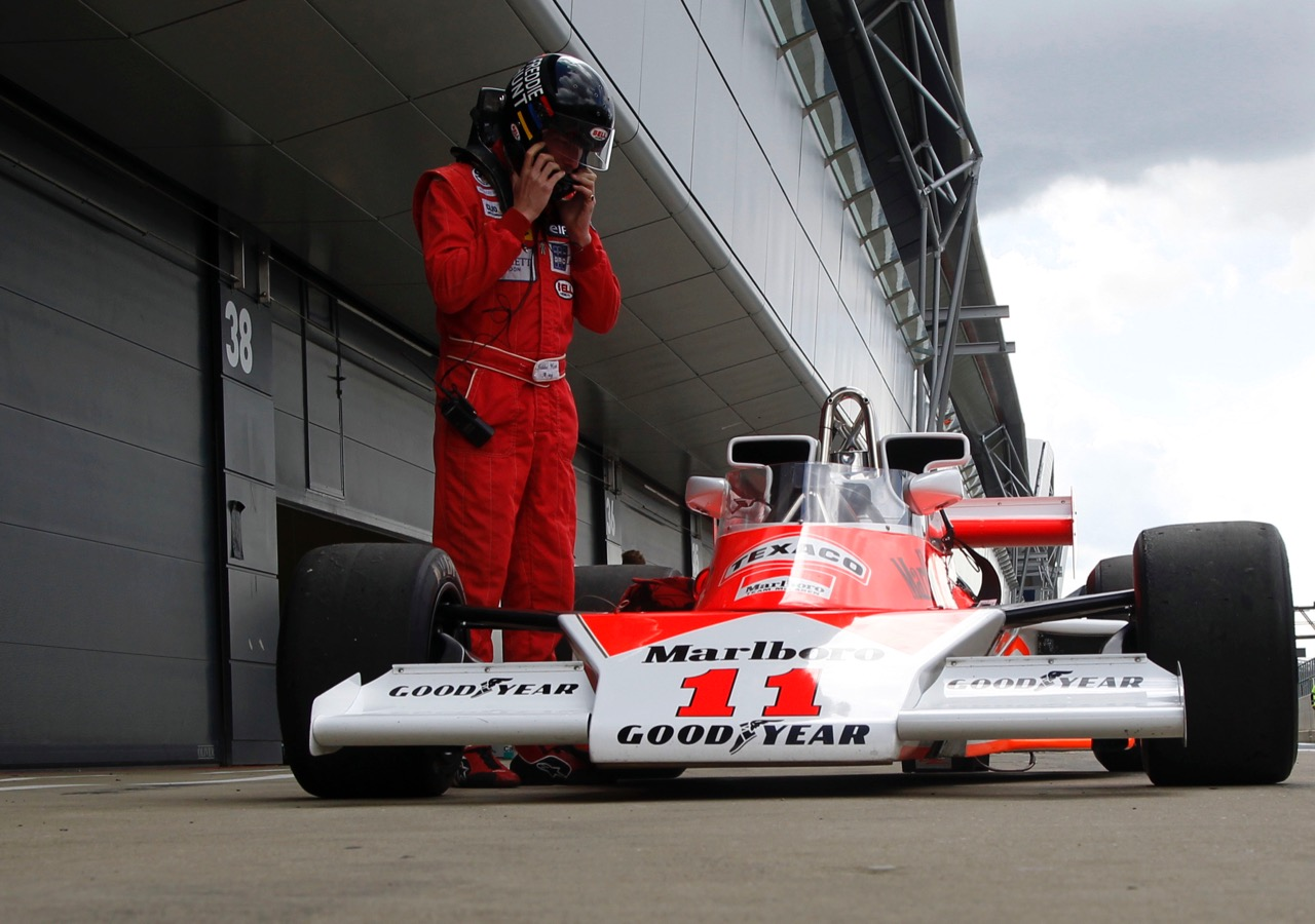 Freddie Hunt and the car his father, James, raced | Silverstone Classic photos