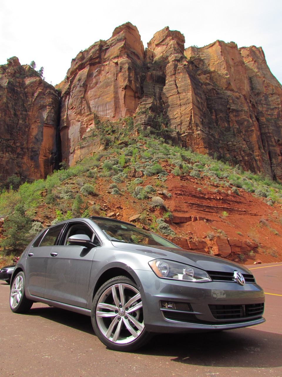 2016 VW Golf at Zion National Park | Larry Edsall photos