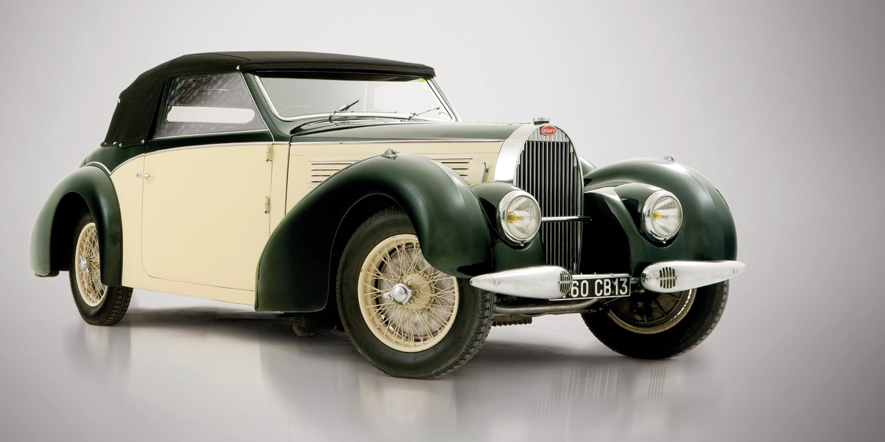 1939 Bugatti Type 57 cabriolet has Gangloff coachwork and was factory demo | RM Sotheby's photos