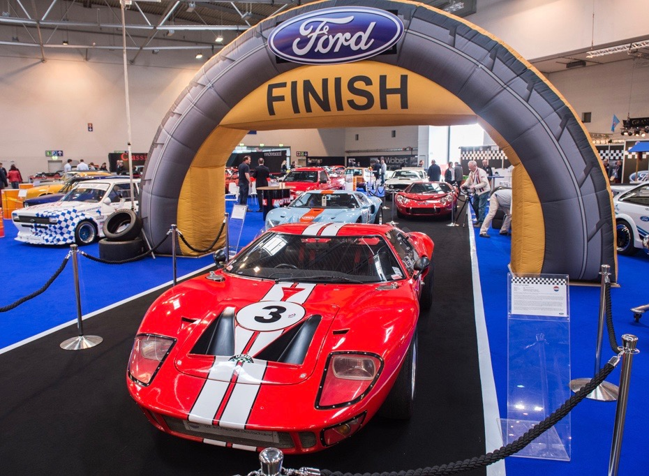 The Ford display celebrates Le Mans victories