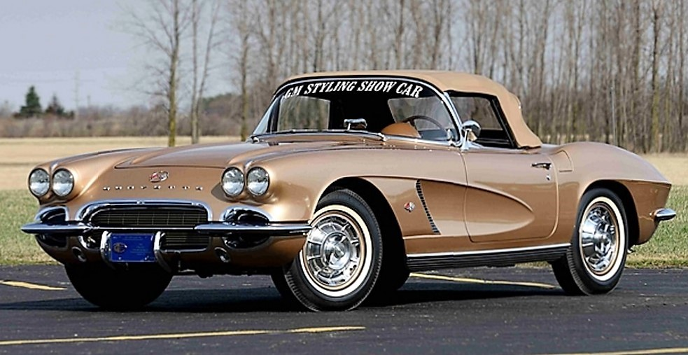 The 1962 Corvette was restored as it was designed for a styling evaluation | Mecum Auctions