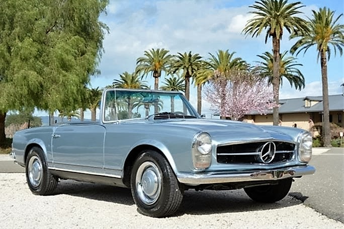 The classy-looking Mercedes-Benz 230SL is part of a rising tide of values