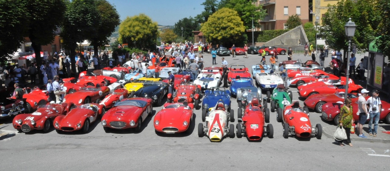 The paddock for the Vernasca Silver Flag hill climb in 2015 | Bonhams photos