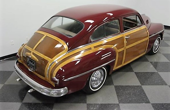 The Plymouth's rear resembles the Chrysler 'barrel back' woodie of the same era