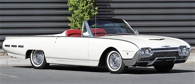 The Ford Thunderbird Sport Roadster was turned into a two seater via a fiberglass tonneau.