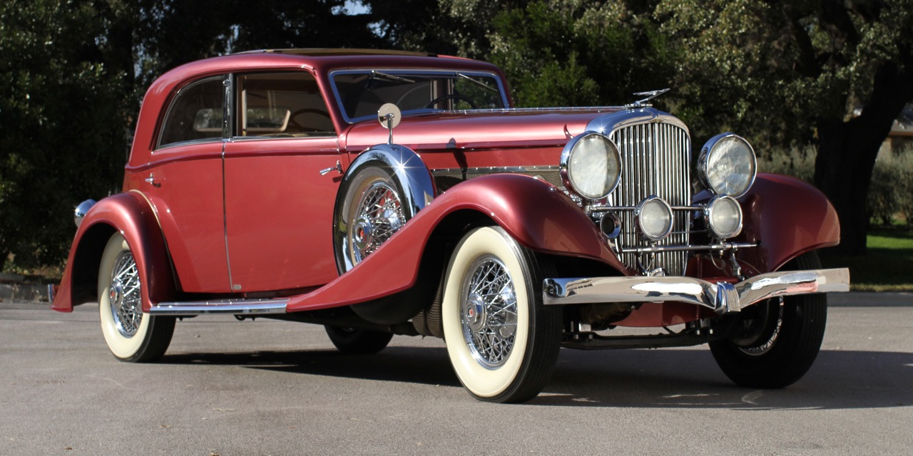 Franky-Bodied 1934 Duesenberg Model J Berline is known as 'The Queen of Diamonds' | Auctions America photos