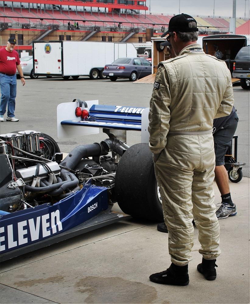 Driver looking car